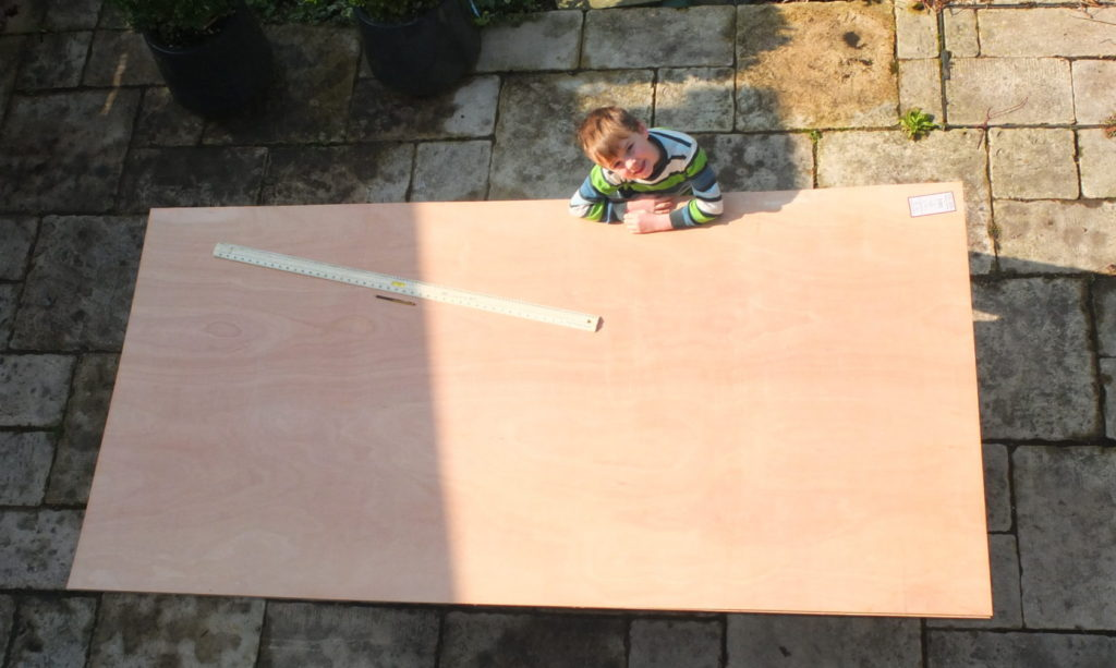 Marking out the plywood